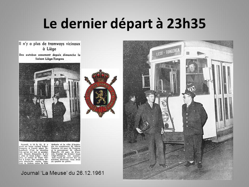 Le dernier départ à 23h35 Journal 'La Meuse' du 26.12.1961