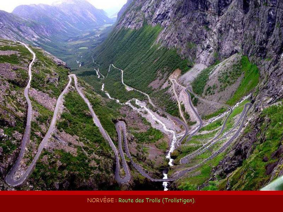 NORVÈGE : Route des Trolls (Trollstigen).