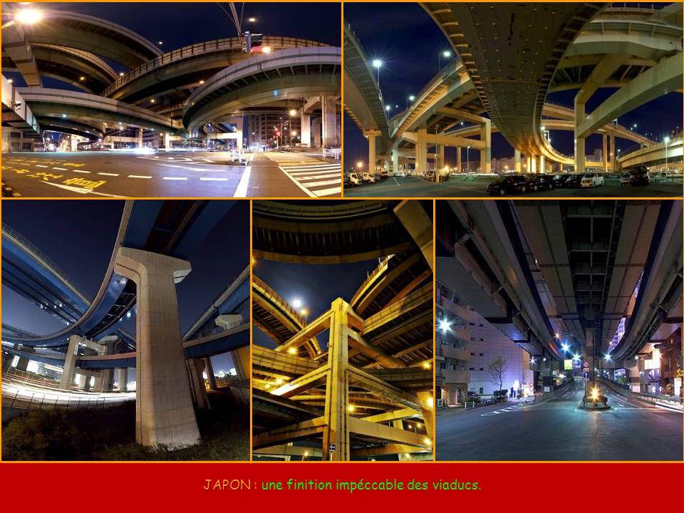 JAPON : une finition impéccable des viaducs.