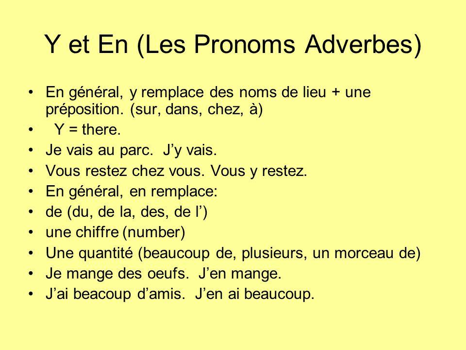 Y et En (Les Pronoms Adverbes)