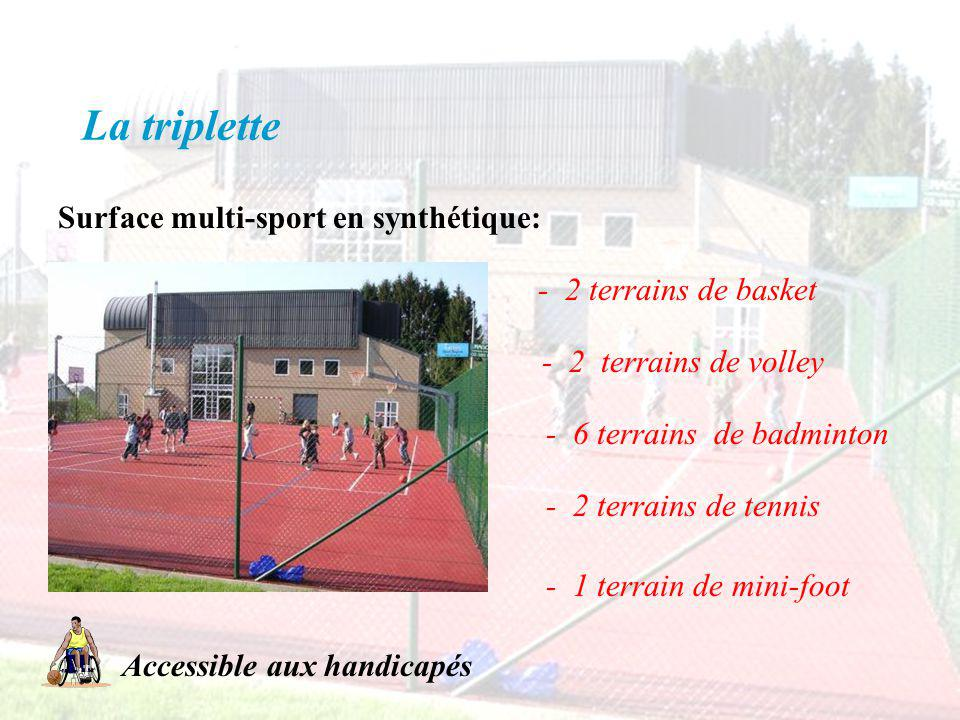 La triplette Surface multi-sport en synthétique: