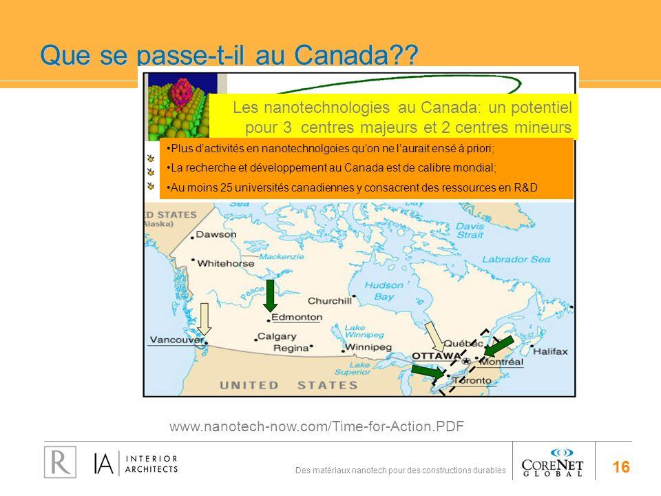 Que se passe-t-il au Canada
