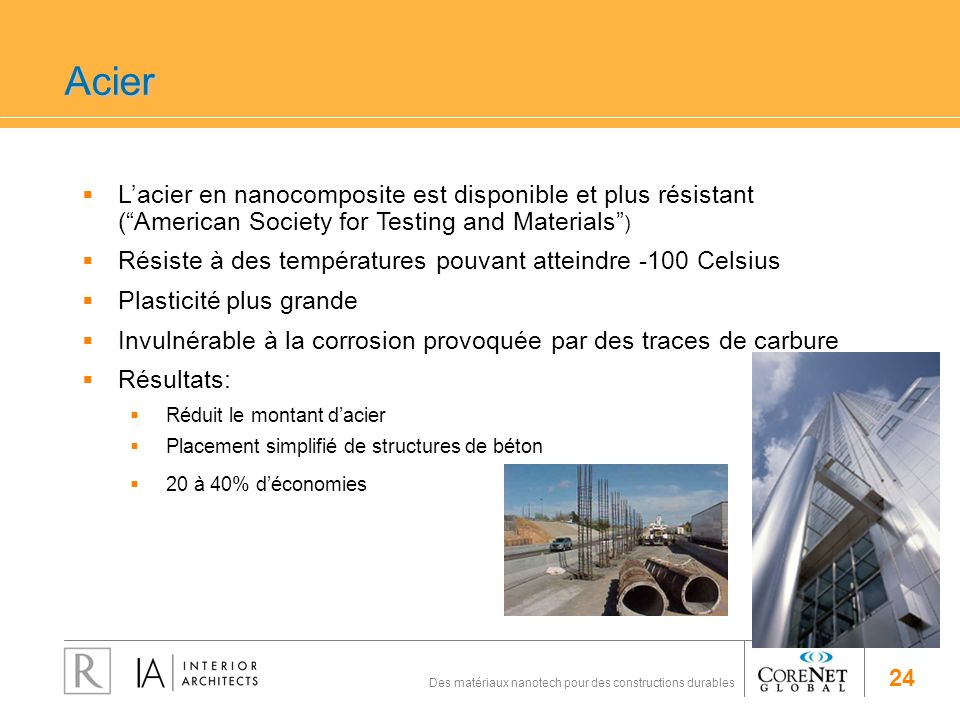 Acier L'acier en nanocomposite est disponible et plus résistant ( American Society for Testing and Materials )