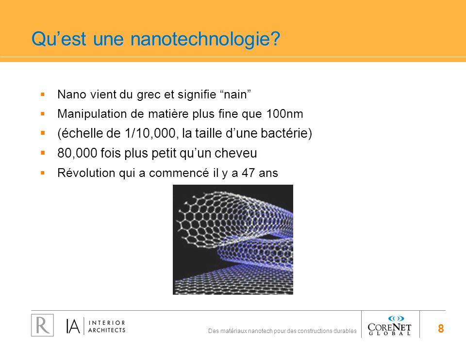 Qu'est une nanotechnologie