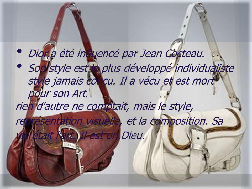 Dior,a été influencé par Jean Cocteau.