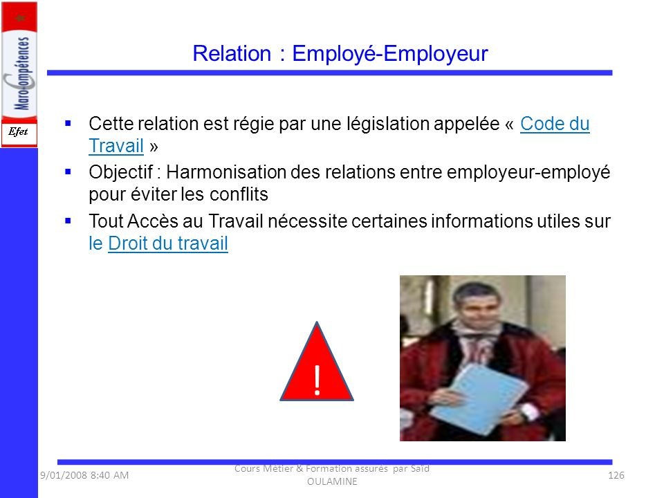 Relation : Employé-Employeur