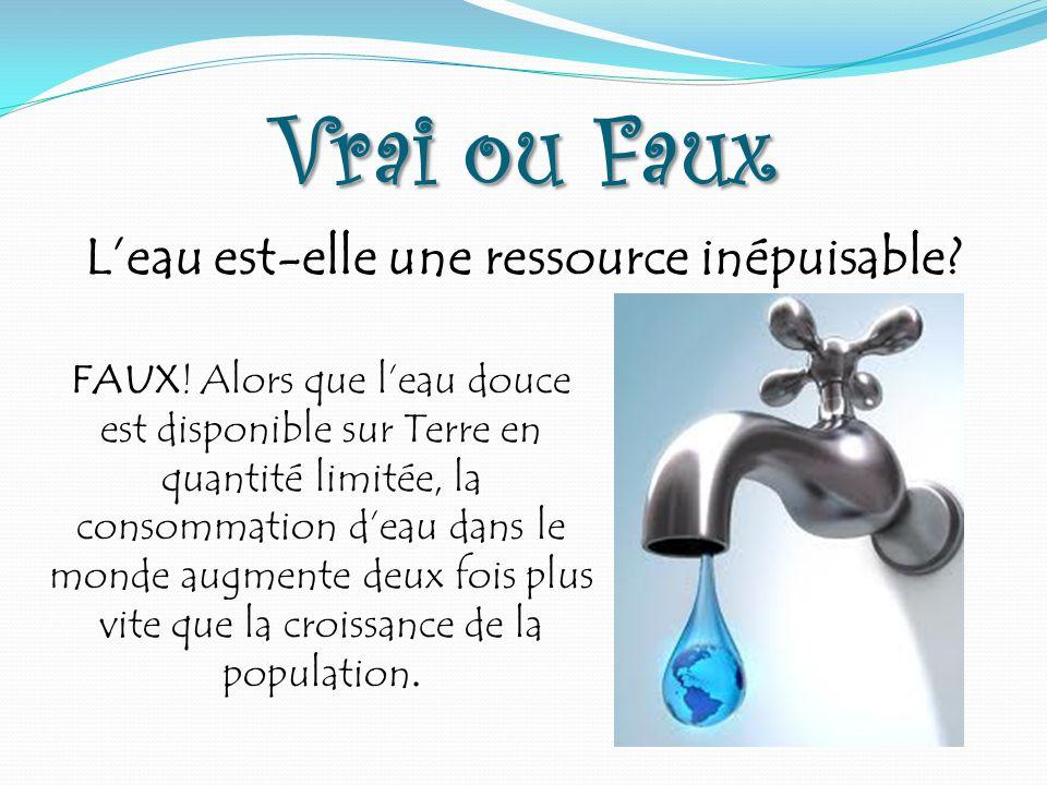 L'eau est-elle une ressource inépuisable