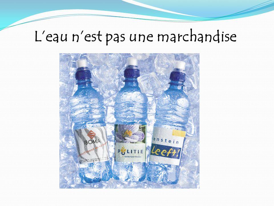 L'eau n'est pas une marchandise