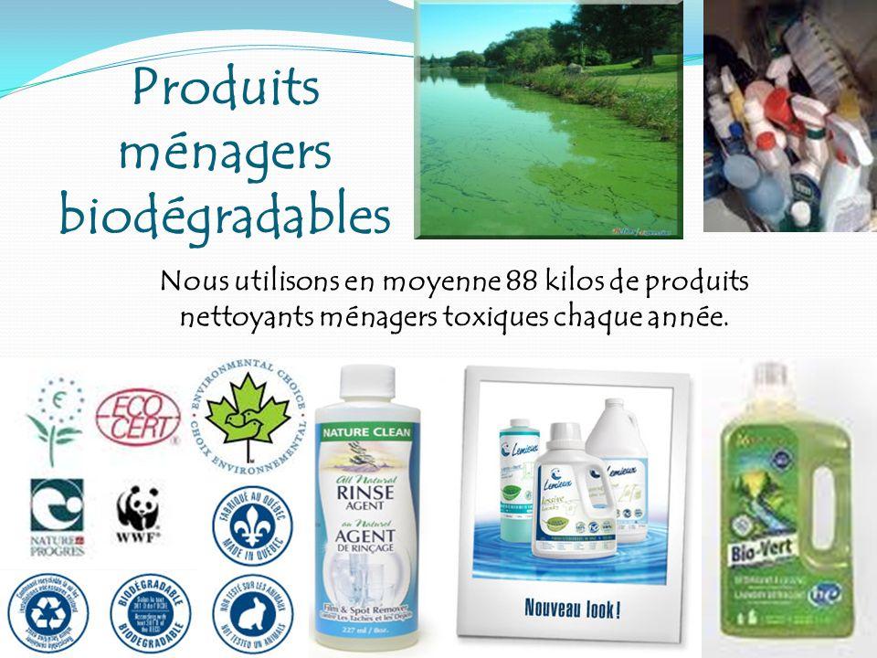 Produits ménagers biodégradables