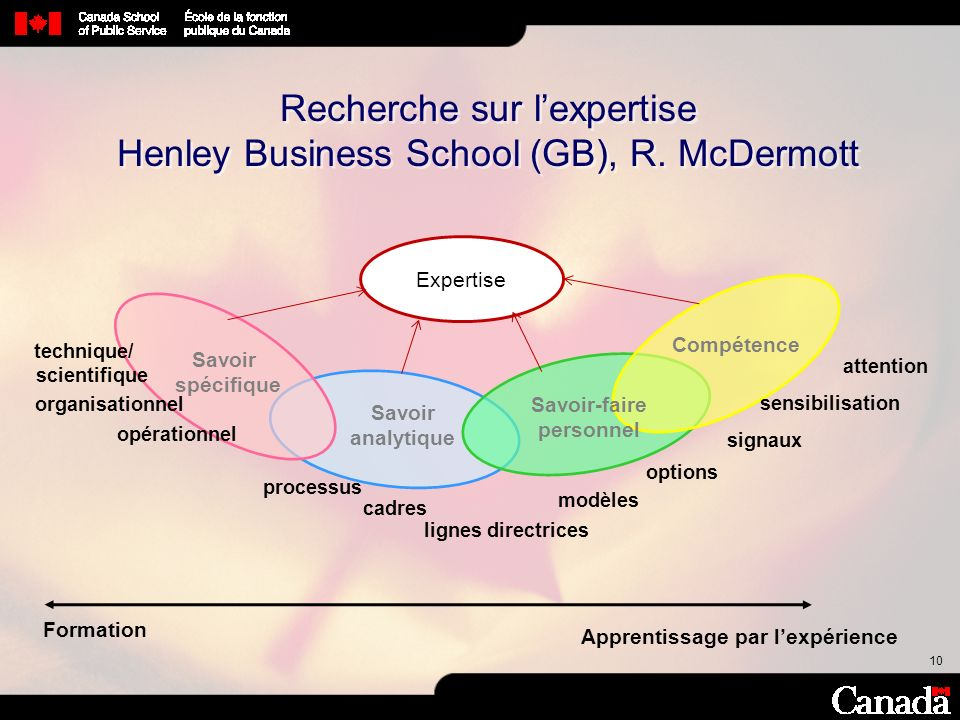 Recherche sur l'expertise Henley Business School (GB), R. McDermott