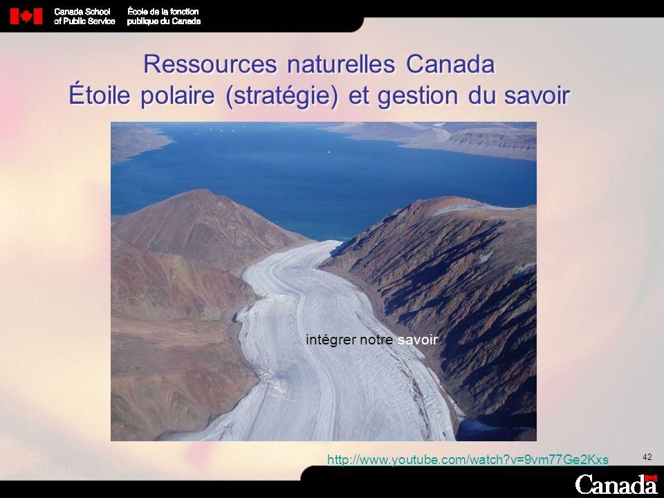 Ressources naturelles Canada Étoile polaire (stratégie) et gestion du savoir