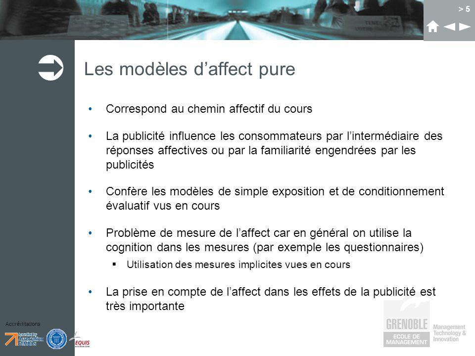 Les modèles d'affect pure