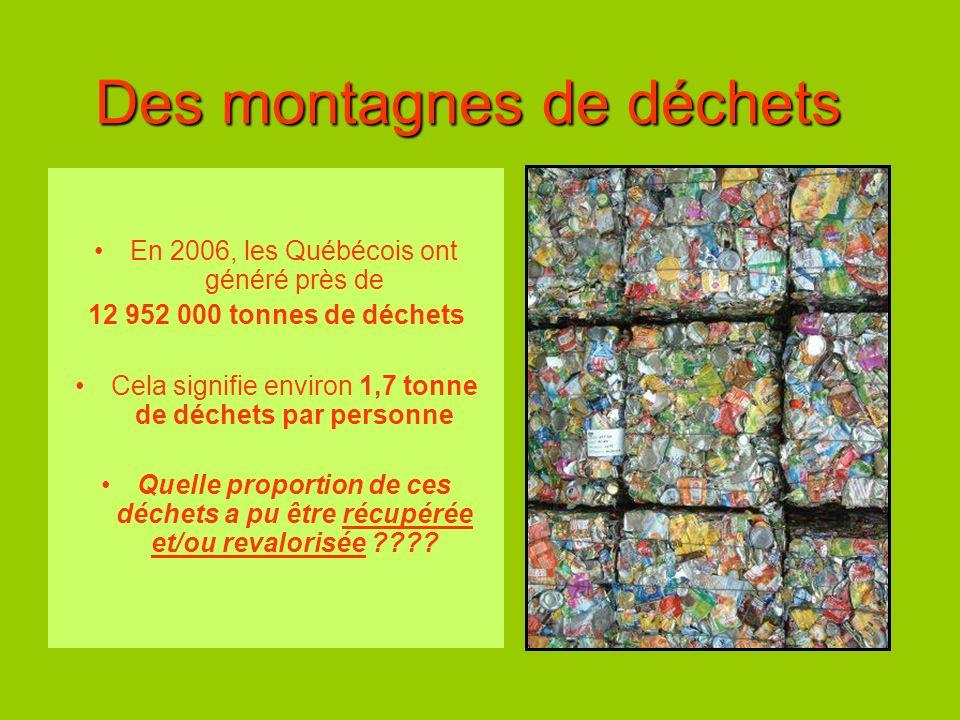 Des montagnes de déchets