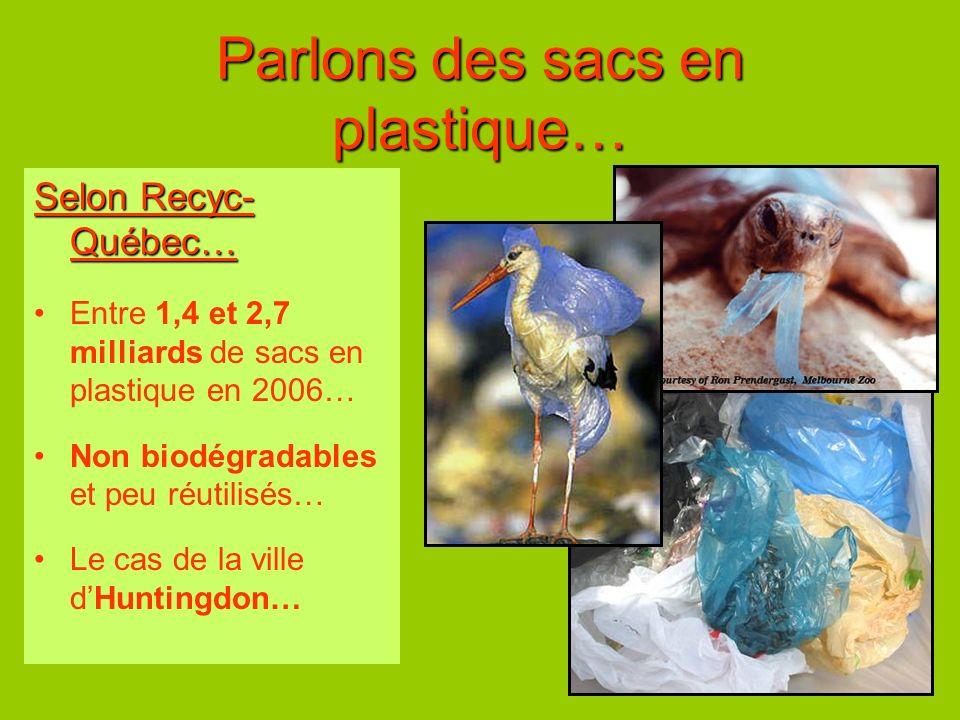 Parlons des sacs en plastique…