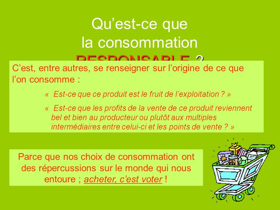 Qu'est-ce que la consommation RESPONSABLE
