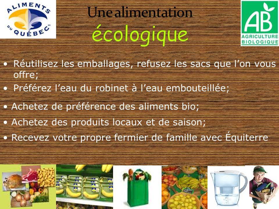 Une alimentation écologique