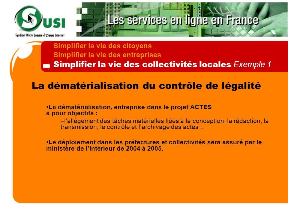 La dématérialisation du contrôle de légalité