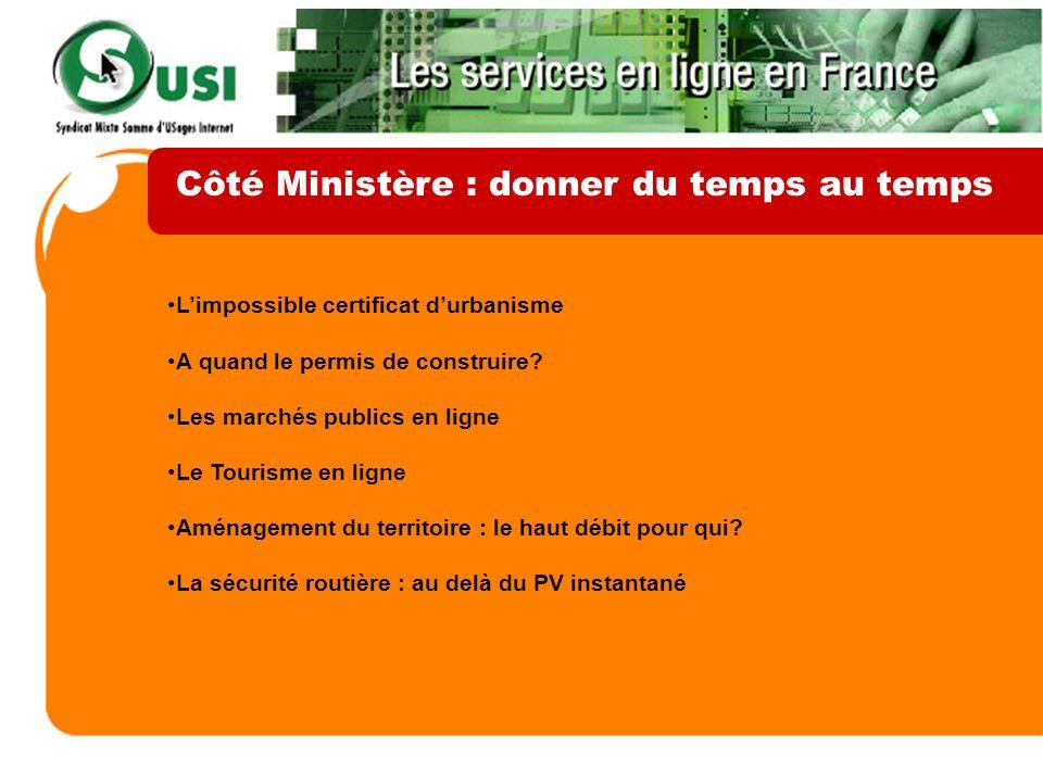 Côté Ministère : donner du temps au temps