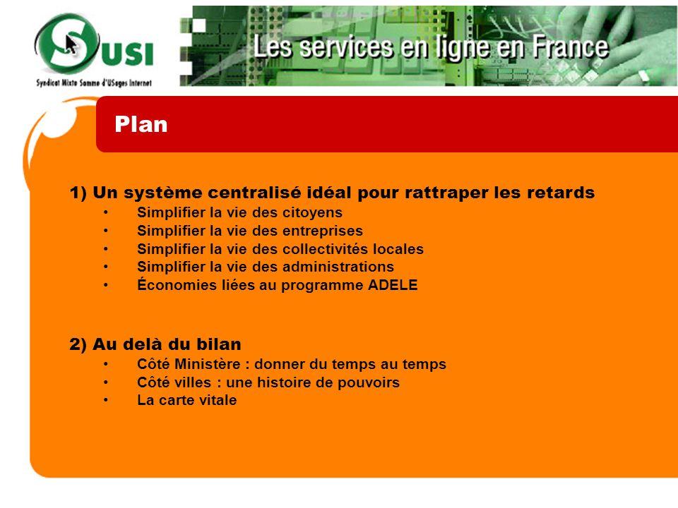 Plan 1) Un système centralisé idéal pour rattraper les retards