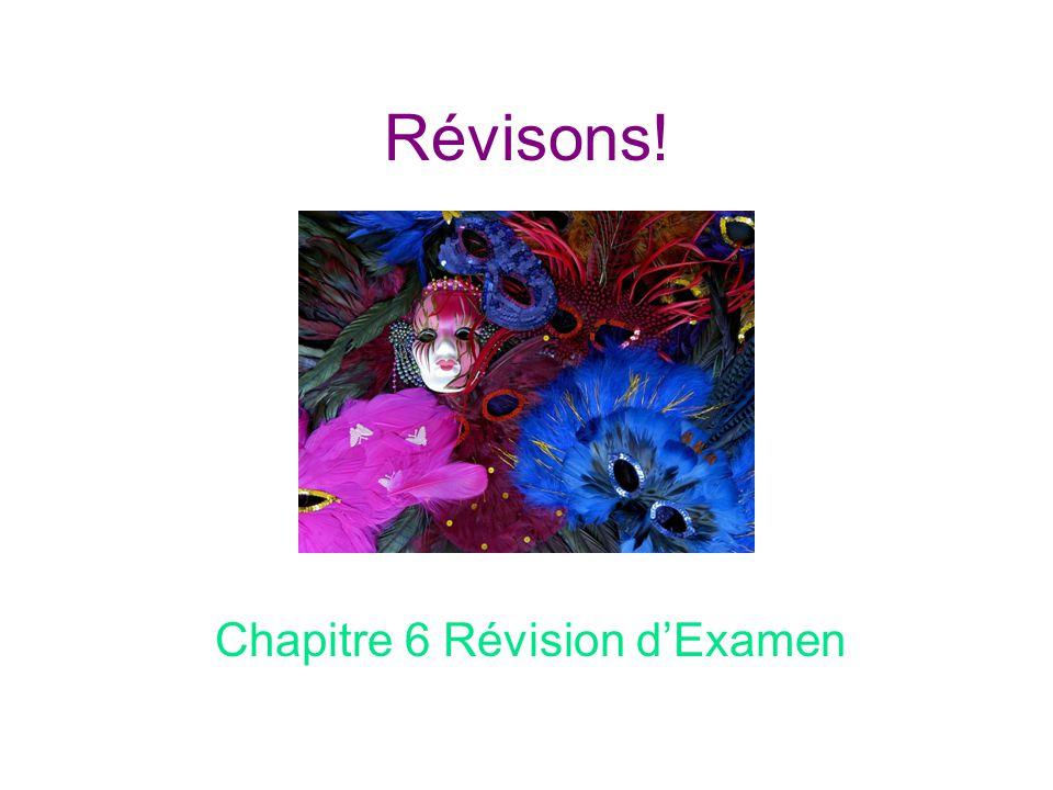 Chapitre 6 Révision d'Examen