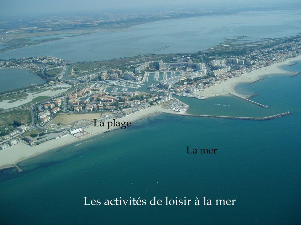 Les activités de loisir à la mer