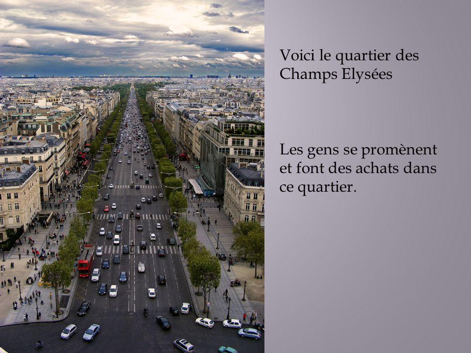 Voici le quartier des Champs Elysées