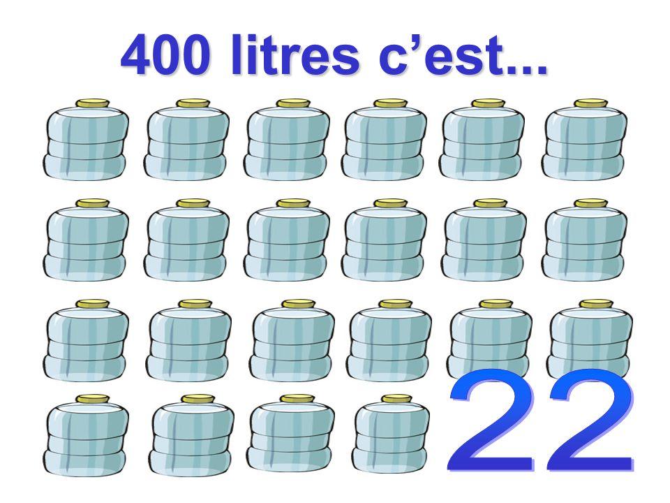 400 litres c'est...