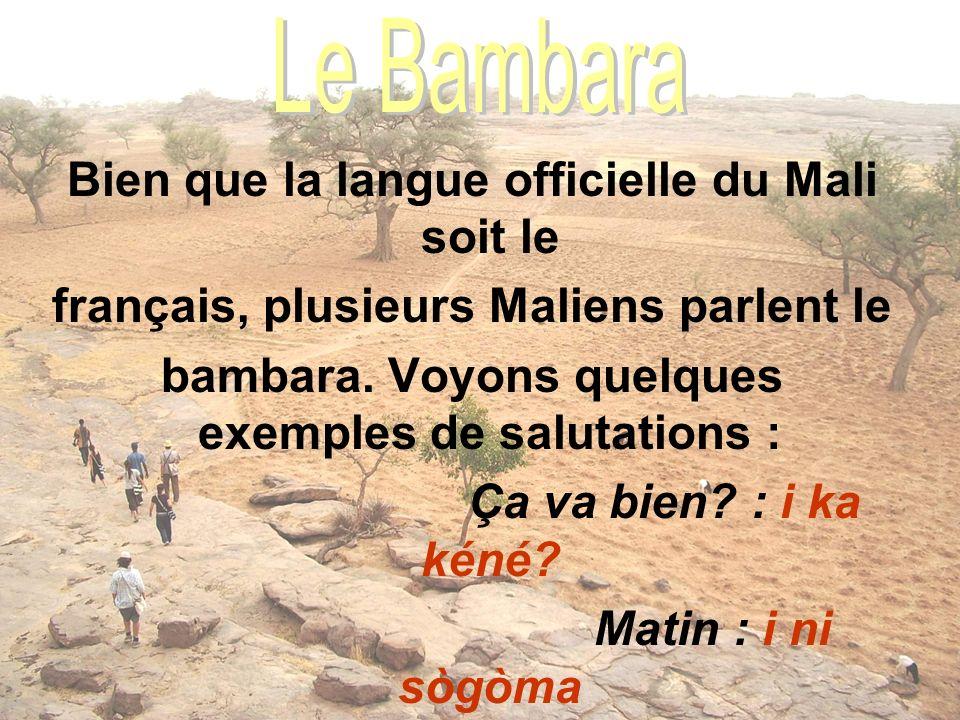 Bien que la langue officielle du Mali soit le