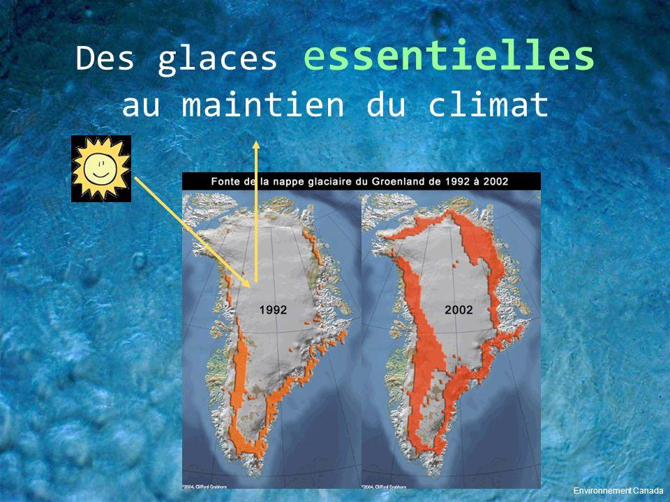 Des glaces essentielles au maintien du climat