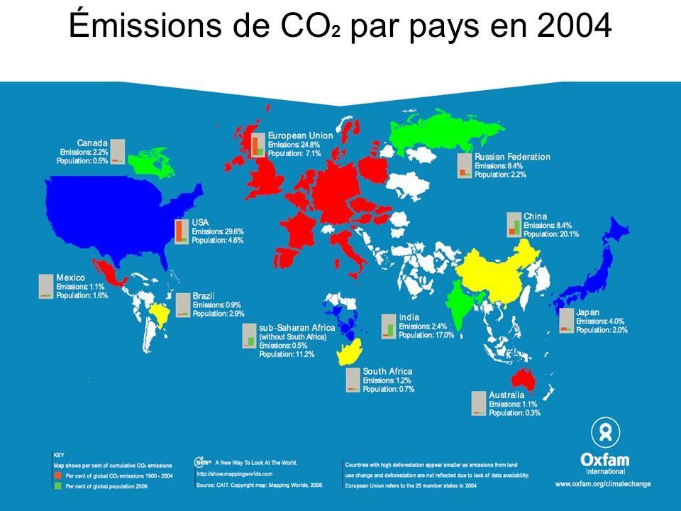Émissions de CO2 par pays en 2004