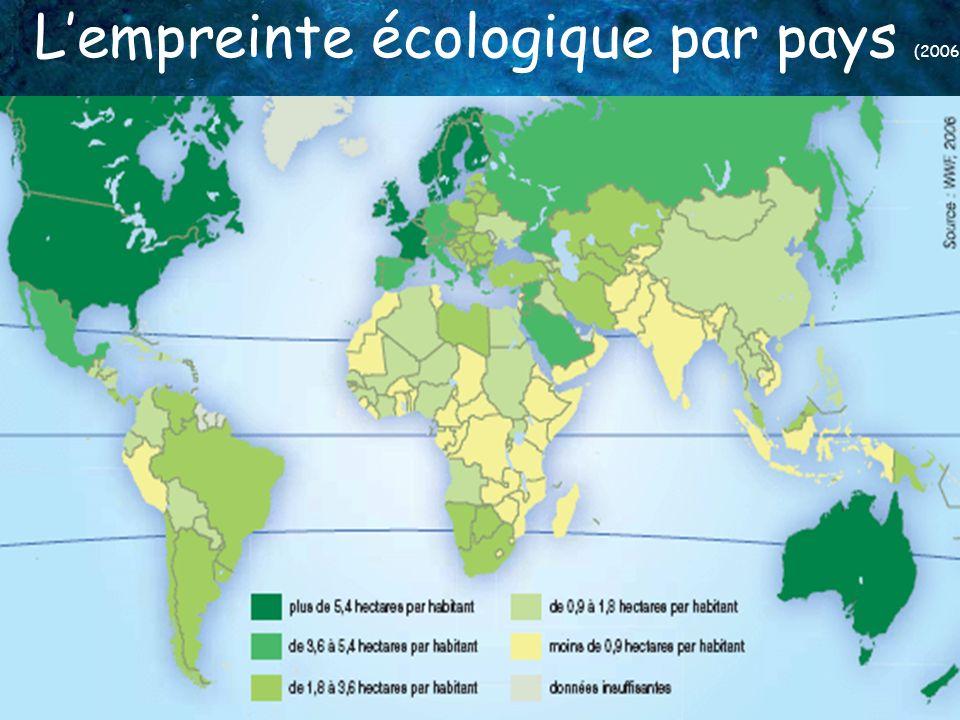 L'empreinte écologique par pays (2006)