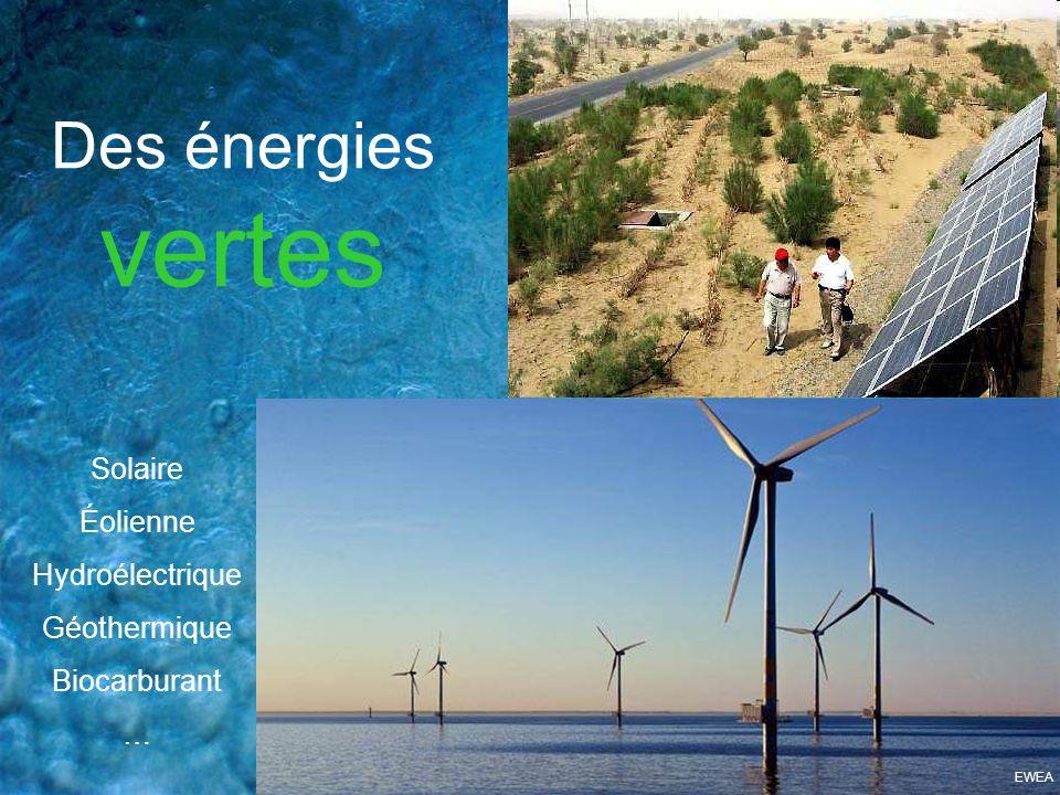 Des énergies vertes Solaire Éolienne Hydroélectrique Géothermique