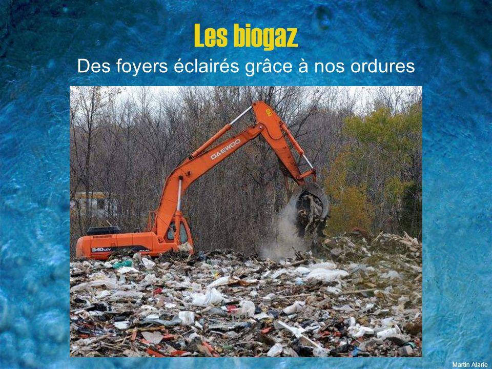 Les biogaz Des foyers éclairés grâce à nos ordures