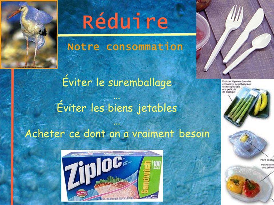 Réduire Notre consommation Éviter le suremballage …