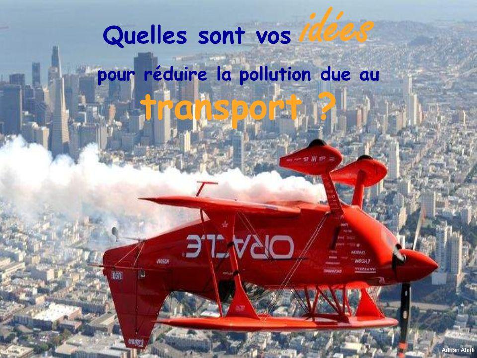 pour réduire la pollution due au