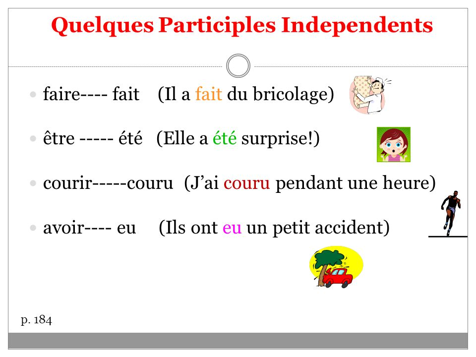 Quelques Participles Independents