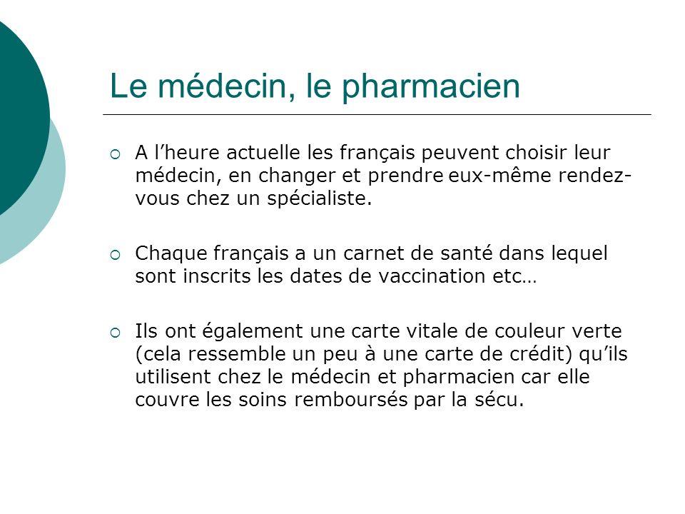 Le médecin, le pharmacien