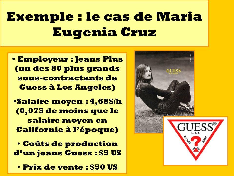 Exemple : le cas de Maria Eugenia Cruz