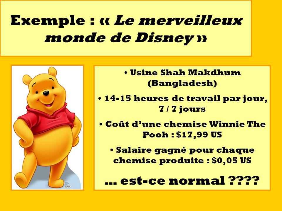 Exemple : « Le merveilleux monde de Disney »