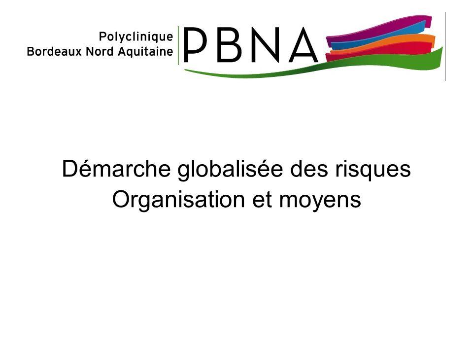 Démarche globalisée des risques Organisation et moyens