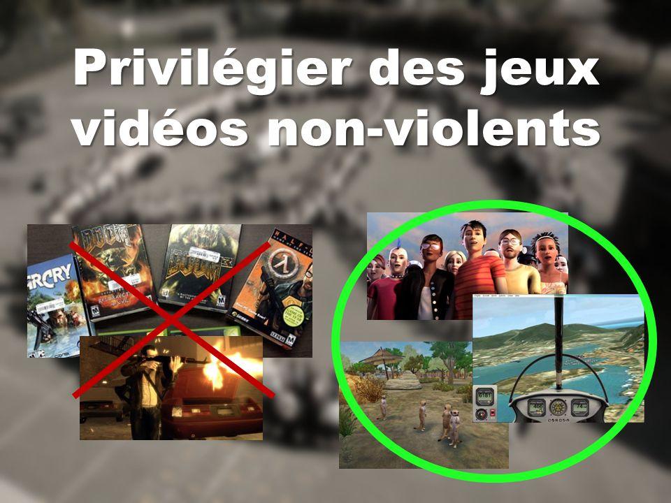 Privilégier des jeux vidéos non-violents