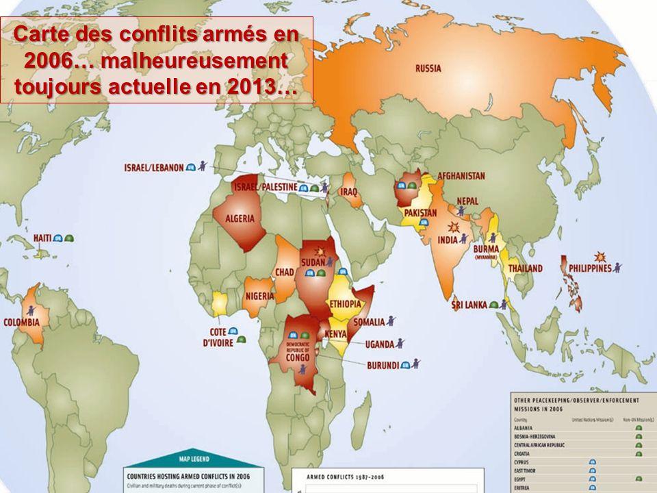 Carte conflits dans le monde