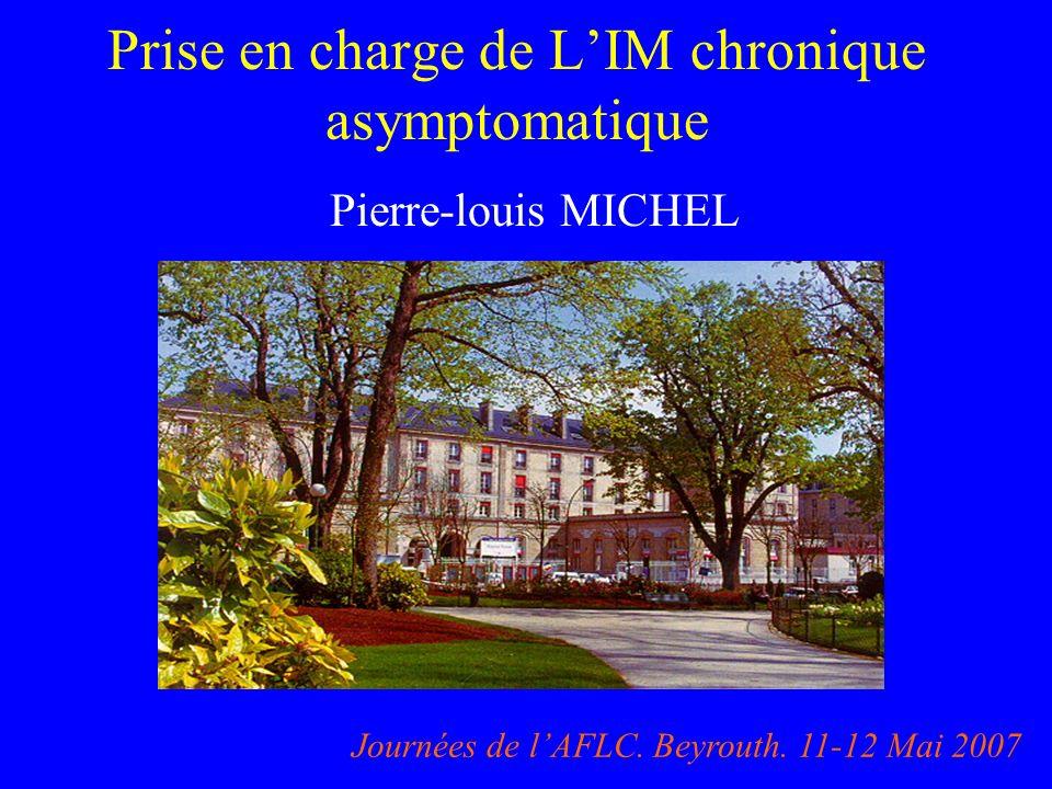 Prise en charge de L'IM chronique asymptomatique
