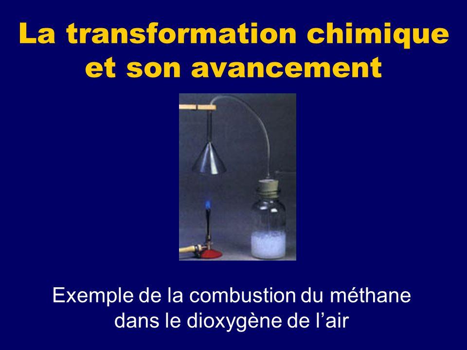 La transformation chimique et son avancement