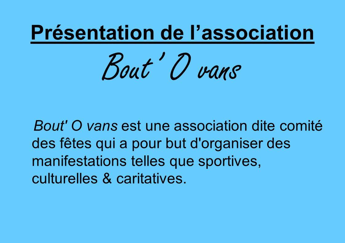 Présentation de l'association Bout' O vans