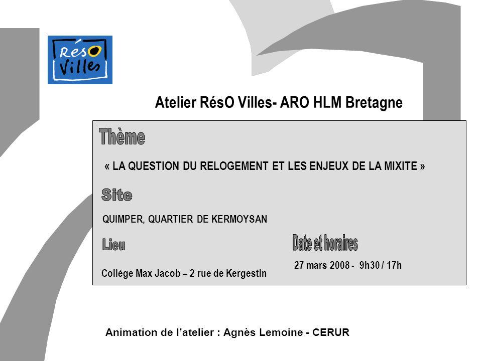 Atelier RésO Villes- ARO HLM Bretagne