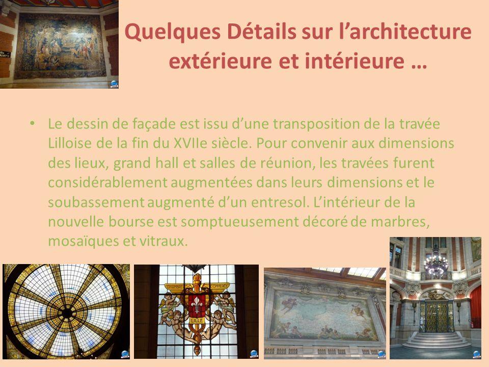 Quelques Détails sur l'architecture extérieure et intérieure …