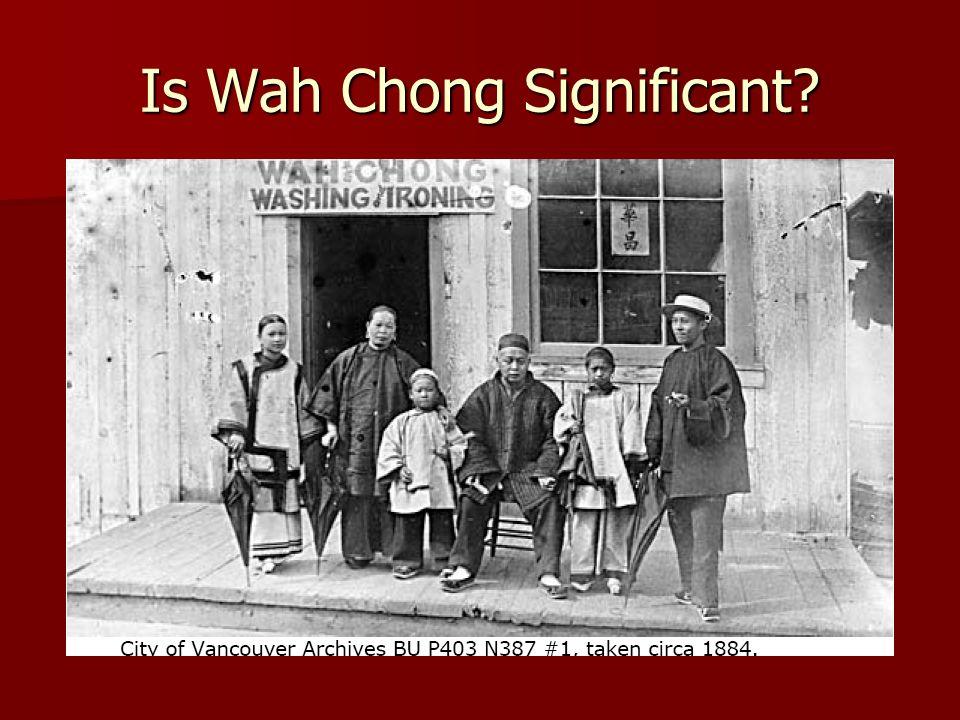 Is Wah Chong Significant