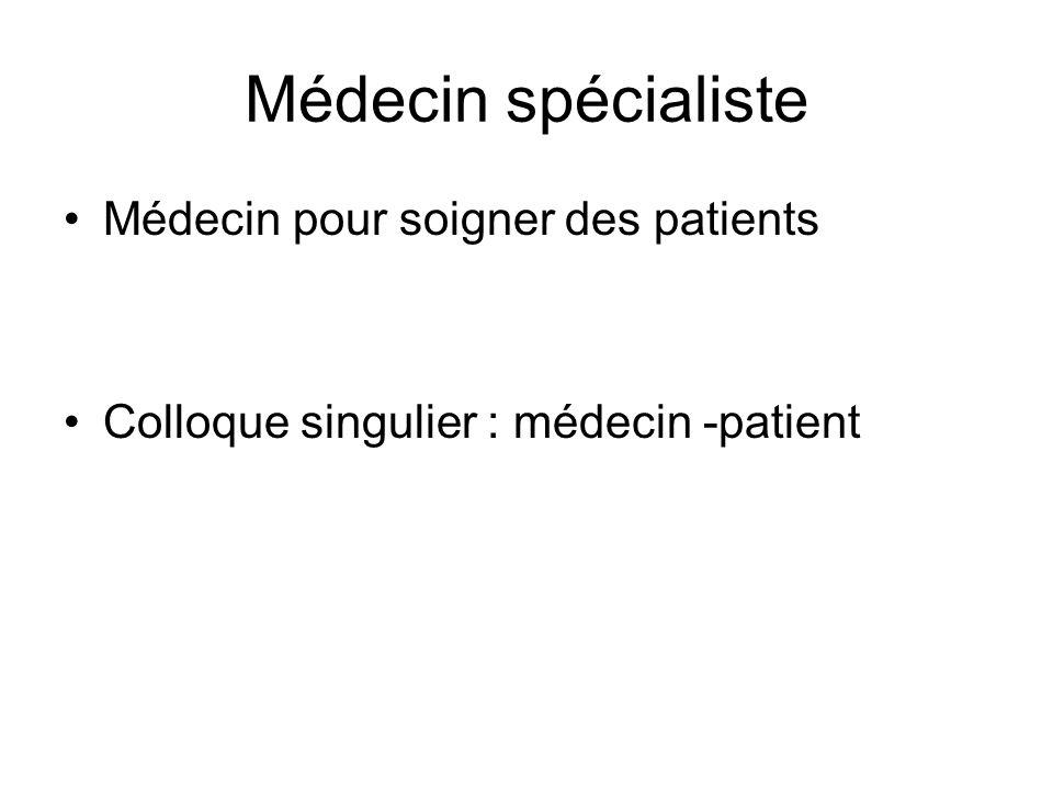 Médecin spécialiste Médecin pour soigner des patients