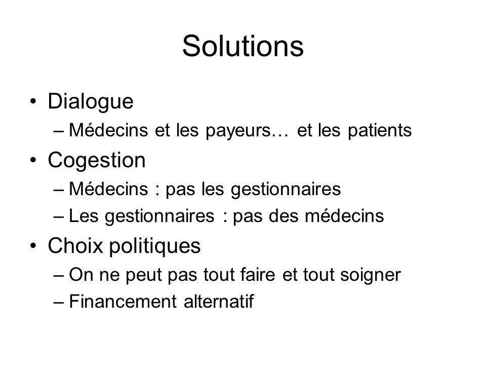 Solutions Dialogue Cogestion Choix politiques